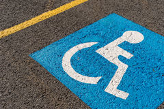 Disabled blue parking sign Stock Images