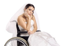 Disabled Bride royalty free stock photo