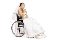 Disabled Bride Royalty Free Stock Photos