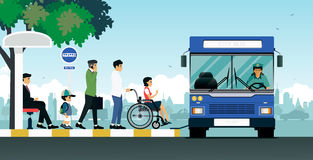 Disabled bus Stock Photography