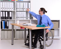 Disabled business man in wheelchair Royalty Free Stock Photos