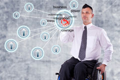 Disabled Business man Stock Photo