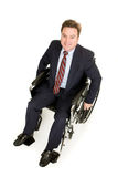 Disabled Businessman from Above Stock Image