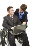 Disabled Businessman and Associate Stock Photography