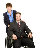 Disabled Businessman and Colleague Royalty Free Stock Photos