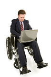 Disabled Businessman & Computer Royalty Free Stock Images