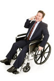 Disabled Businessman on Phone Stock Photos