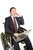 Disabled Businessman - Pleasant Chat Stock Photography