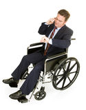 Disabled Businessman Running Late Stock Photography