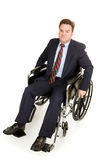 Disabled Businessman - Serious Royalty Free Stock Images