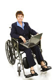 Disabled Businesswoman - Serious Stock Photography