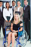 Disabled businesswoman team Stock Images