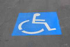 Disabled car park space Royalty Free Stock Photos