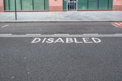 Disabled car parking space, UK Stock Photo