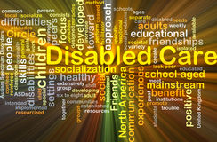Disabled care background concept glowing Stock Image