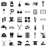 Disabled care icons set, simple style Royalty Free Stock Photo