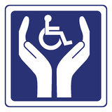 Disabled care sign vector