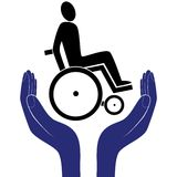 Disabled care sign vector Royalty Free Stock Photography