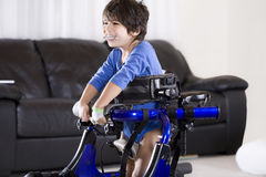 Disabled Child In Walker Stock Images