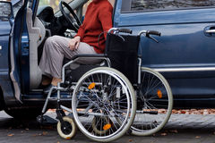 Disabled driver Royalty Free Stock Photos