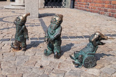Disabled dwarves in Wroclaw Royalty Free Stock Images
