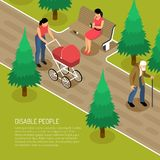 Disabled Isometric Illustration Stock Photo