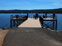Disabled Fishing dock Stock Image