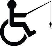 Disabled fishing icon Royalty Free Stock Photos