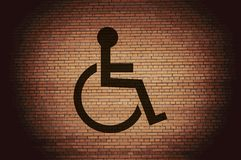 Disabled. Flat modern web button and space for Stock Photo