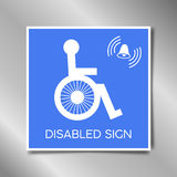 Disabled flat single icon. Vector illustration. Flat. Disabled flat single icon. Vector illustration. icon symbol disabled. sticker disabled with realistic Royalty Free Stock Image