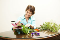 Disabled Florist with Copyspace Royalty Free Stock Photography