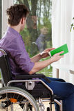 Disabled during free time Stock Image