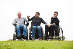 Disabled friends Royalty Free Stock Photos