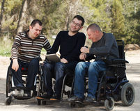 Disabled friends Stock Photography
