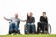 Disabled friends Royalty Free Stock Photography