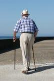 Disabled Gentleman Stock Photo