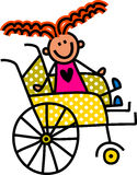 Disabled Girl Stock Photo