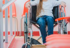 Disabled Girl on Wheelchair royalty free stock images