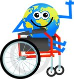 Disabled globe Stock Photos