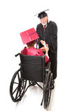 Disabled Graduate Receives Diploma Stock Images