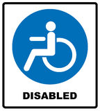 Disabled Handicap Icon Royalty Free Stock Photos