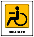 Disabled Handicap Icon Royalty Free Stock Photo