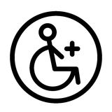 Disabled Handicap linear Icon. Vector illustration Stock Image