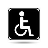 Disabled handicap sign graphic Stock Photos