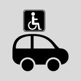 Disabled handicap sign graphic Royalty Free Stock Image