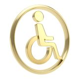 Disabled handicapped person icon emblem isolated Stock Photography
