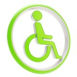 Disabled handicapped person icon emblem isolated Royalty Free Stock Photos