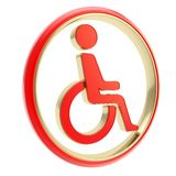 Disabled handicapped person icon emblem isolated Stock Image