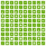 100 disabled healthcare icons set grunge green. 100 disabled healthcare icons set in grunge style green color isolated on white background vector illustration stock illustration