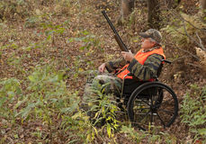 Disabled hunter stock image